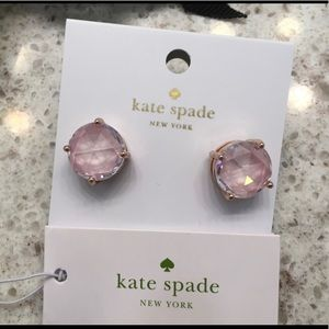 NWT Kate Spade Earrings in Blush